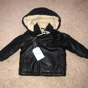 Zara Baby Boys Faux Leather Jacket